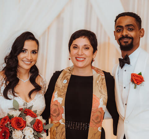 Bride and Groom Salvadorian and Sudanese wedding