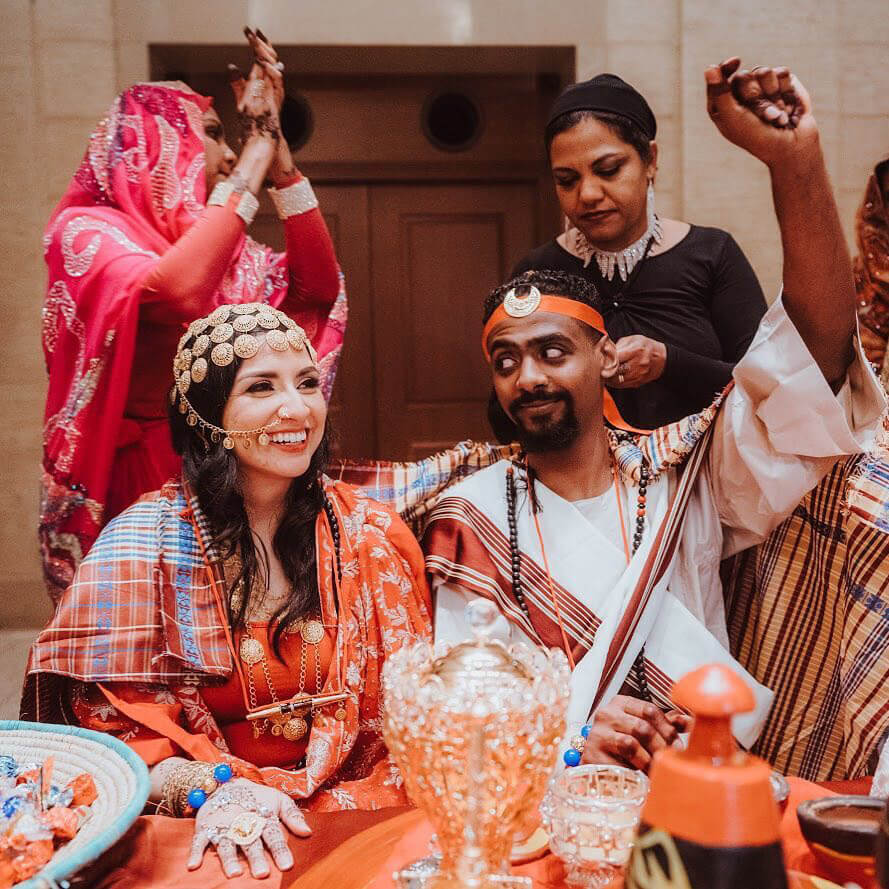 Romantic and fun Sudanese wedding celebration