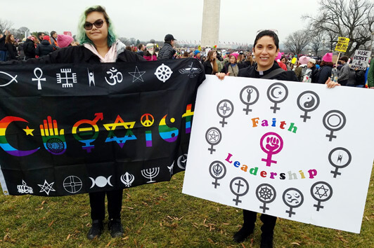 Women's March 2017 Coexist and Women's Faith Leadership