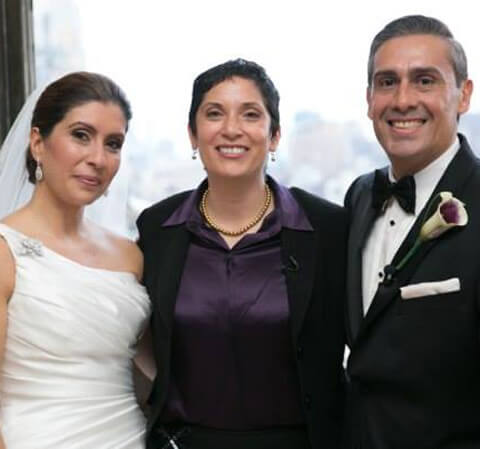 traditional hispanic bride and groom Manyattan Penthouse