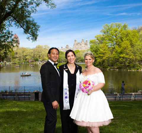 Cherry Hill Central Park Wedding Interracial Couple
